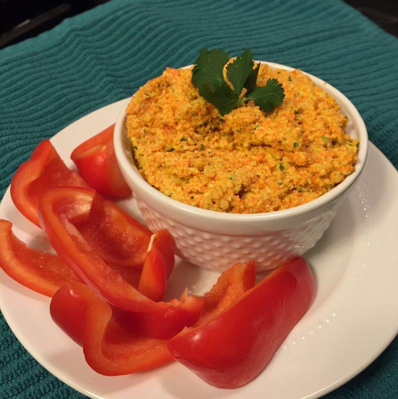 Carrot-cashew-dip